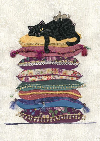Quintessential Cat Cushions Funny Blank Card