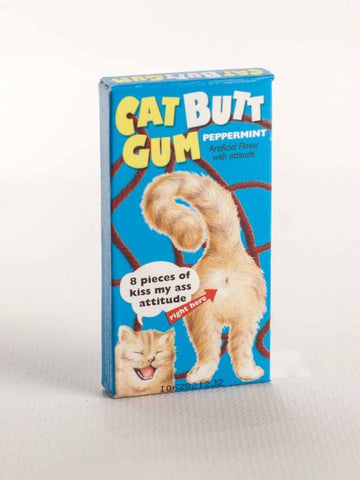 Cat lovers, butt lovers, and joke lovers, have a piece of gum