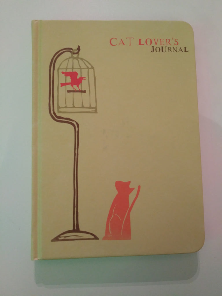 "Cat lover's journal in 5"" x 7"" lined paper"