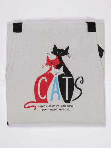 obsessed with cats apron blue q