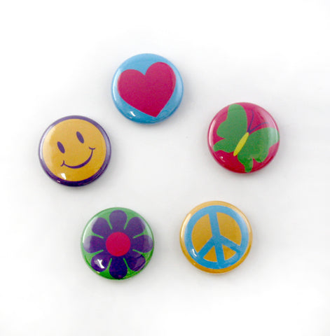 "Custom 1"" Round Flat Back Buttons for Button Charm Bracelets & Necklaces"