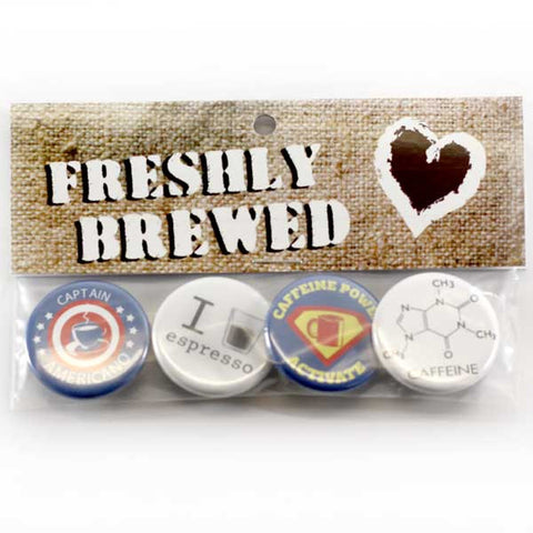 Freshly Brewed Coffee Button Pack