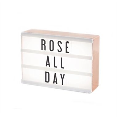 My Cinema Lightbox, Rose Gold Compact LED Theatre Sign