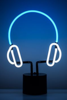Sleek Neon Headphone Light