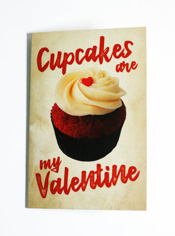 Cupcakes are My Valentine - Button Greeting Card