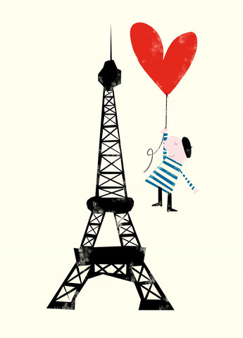 Eiffel Tower Sweet Heart Card Valentine's Love