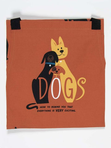 dogs are the best apron blue q