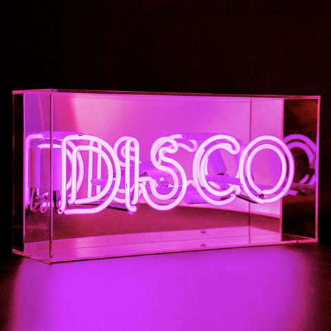 Neon Lights in Acrylic Boxes