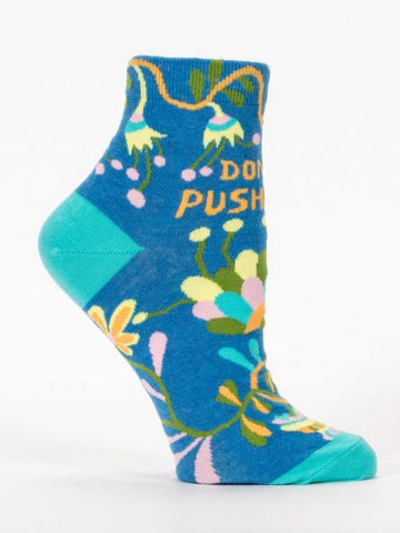 Don't Push Me Blue Q Women's Ankle Socks Gifts Napanee