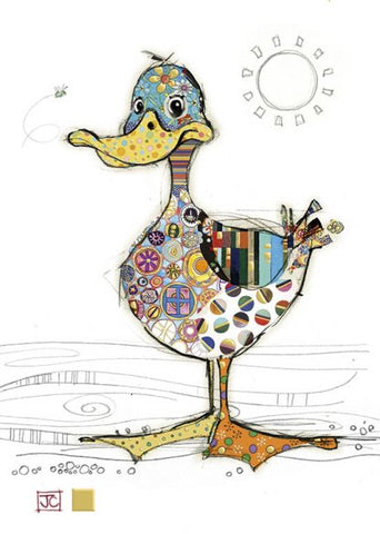 Quirky Dotty Duck Blank Card