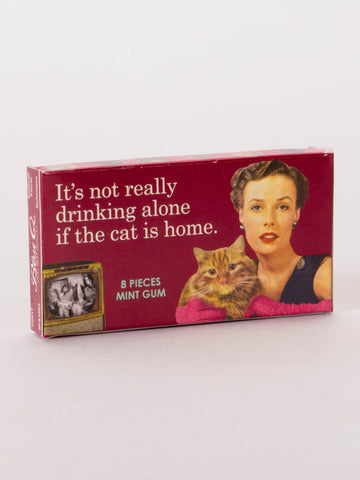 Perfect gum gift for Cat Lovers and Drinking Lovers