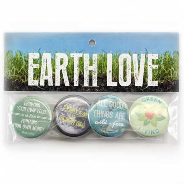 Earth Buttons from People Power Press