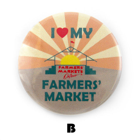 Farmers' Markets Ontario button design