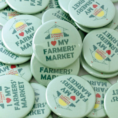 Farmers' Markets Ontario Buttons