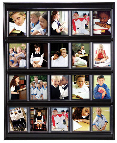 Sports card display for photos