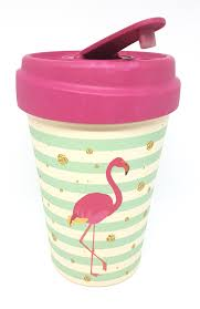 Chic Mic Bamboo Cup Flamingo