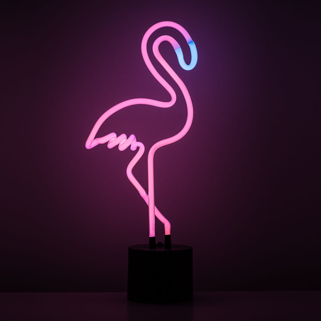 Hey Pink Flamingo Forever Neon Light