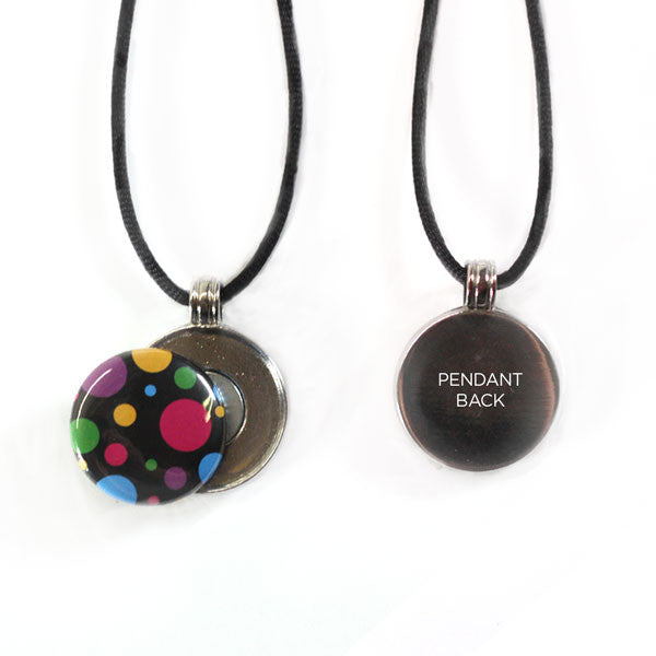 Smooth Round Button Pendant Necklace with technology by Artclix