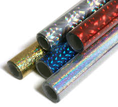 Folia rolls of holographic self adhesive