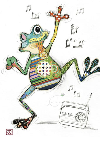 Dancing Freddy Frog Card