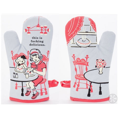 Cute and funny, great quality, 100% cotton oven mitts