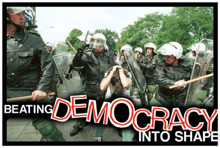 Beating Democracy into Shape - Poster or Postcard