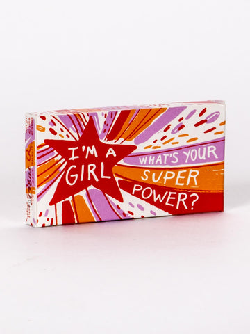 Inspirational gum for Girls, Super Power, pocket sized