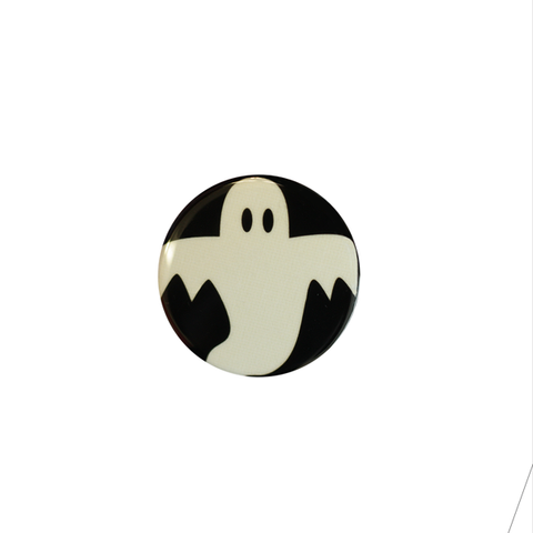 Halloween Spooky Glow-In-The-Dark Buttons Ghost