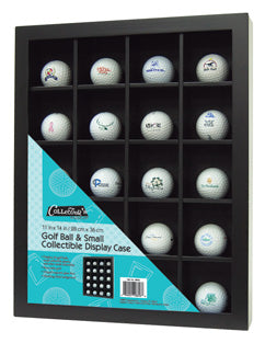 CLEARANCE: Golf Ball and Small vintage collectible display case.