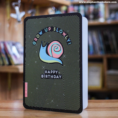 Humourous greeting birthday snail card