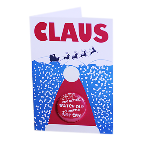 Claus - Button Greeting Card