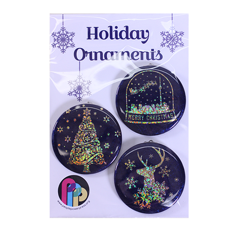 Holographic Holiday Ornaments