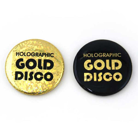 Sparkley Buttons Gold Disco Holographic Foil