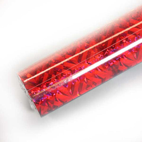 Red Holographic Foil for Button Making from People Power Press
