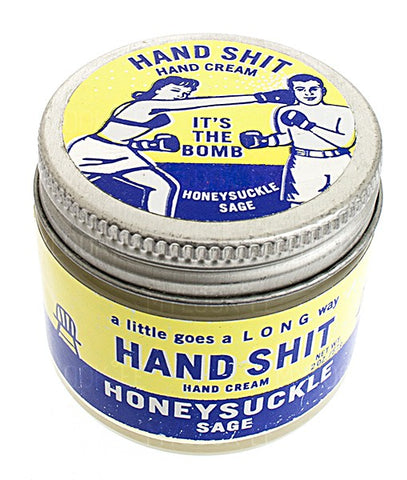 "Smooth hands start with ""Hand Shit"" for natural moisturizing"