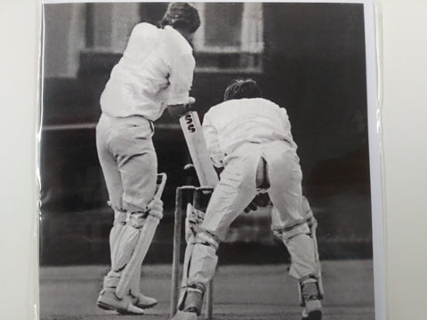 Humour Card Black & White Men Playing Cricket