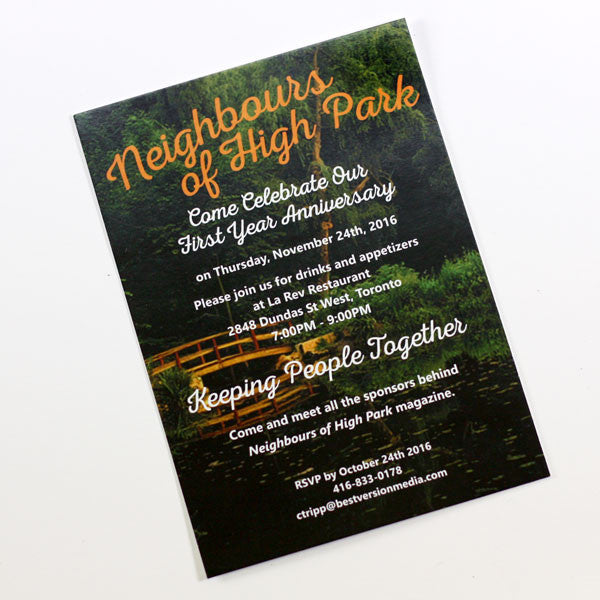 Custom Designed Custom Printed Invitations by People Power Press
