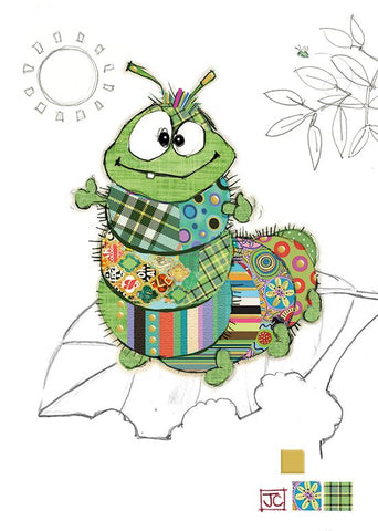 Cedric Caterpillar Bug Art Greeting Card