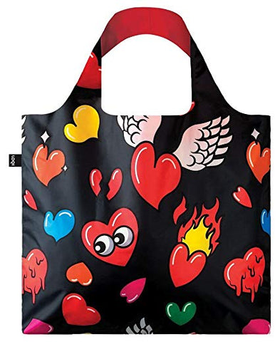 Chemical-Free Tote Bag Hearts