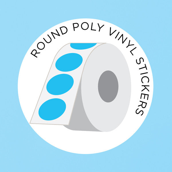 Canada 150 round poly vinyl stickers on a roll from labelsnstickers com at people power