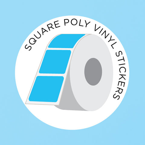 Labels n Stickers Square Polypropylene Vinyl Stickers