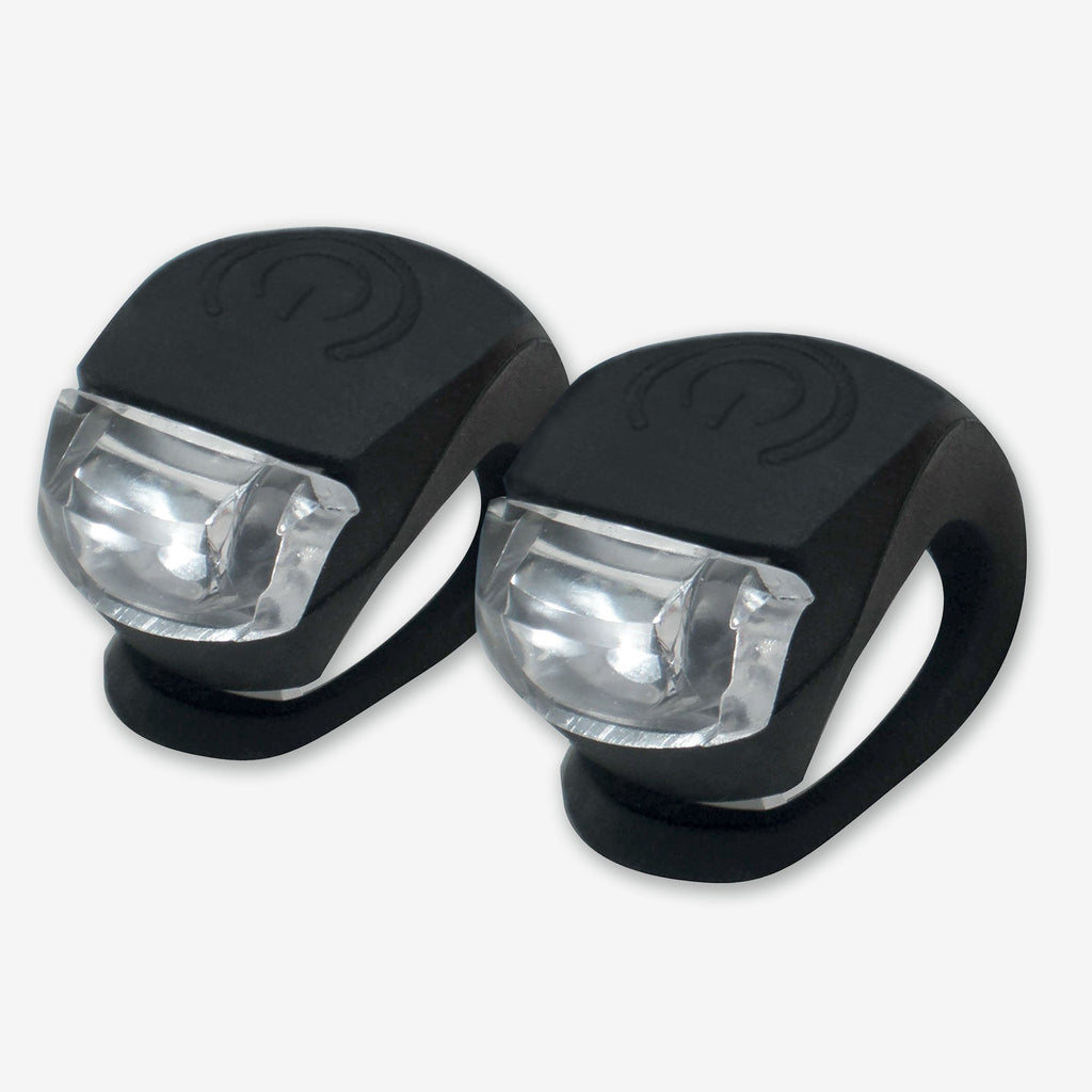 Safety bike lights, white for front and red for rear