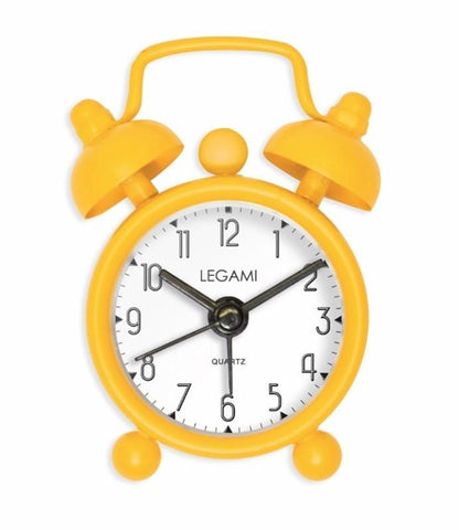 Bold Yellow Vintage Memories Tick Tock, Mini Alarm Clock