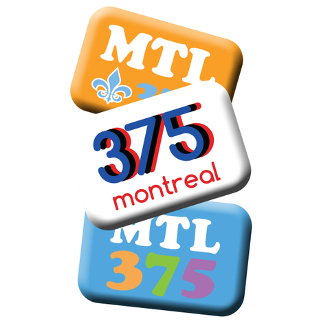 "Montreal 375 Retro 2x3"" Magnets and Buttons"