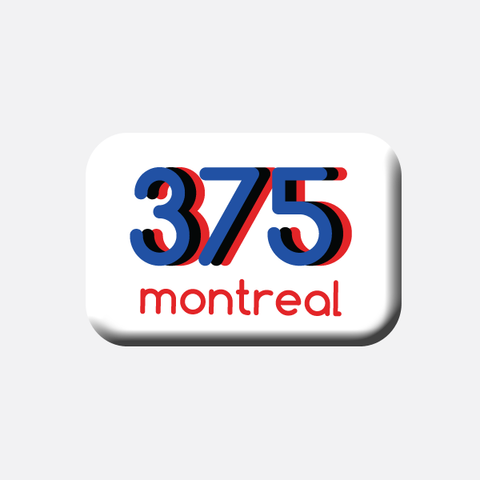 Montreal 375 merchandise retro design