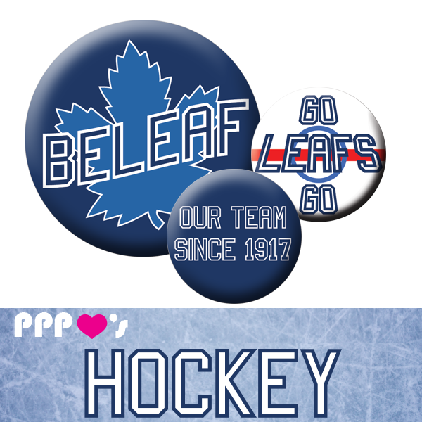 People Power Pin Pack Toronto Maple Leafs Sports Team Button Badge