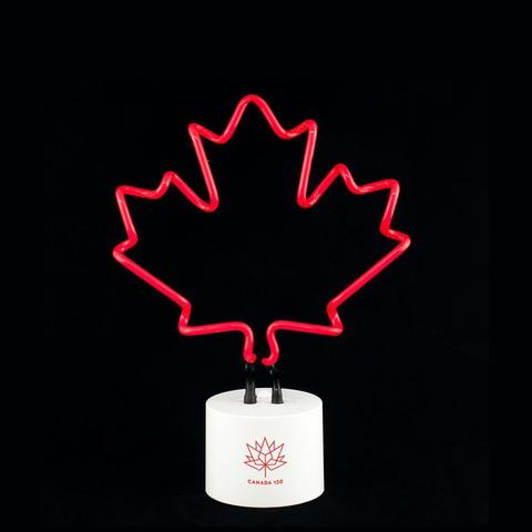 Canada 150 Maple Neon Desk Light