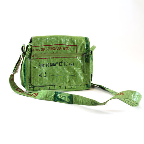 Small Rice Messenger Bags - Basura Recycled Rice Bags