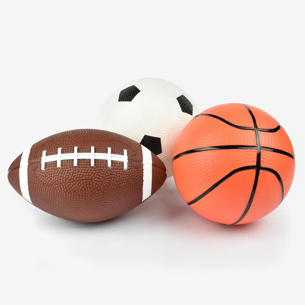Collection of 3 mini sports balls in a set of 3