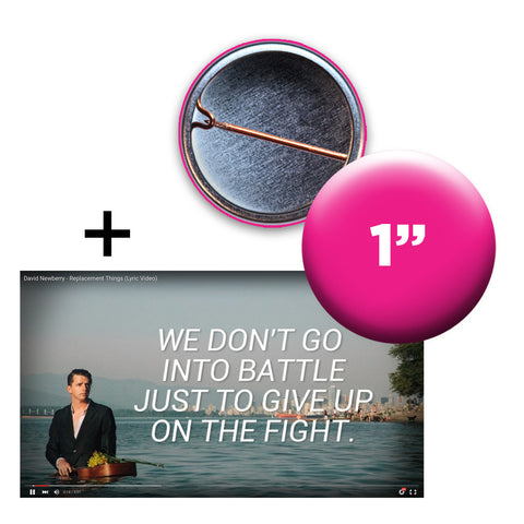 Moving Image Lyric Video + Custom Button Bundle